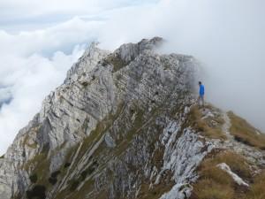 The spectacular ridge of King's Rock
