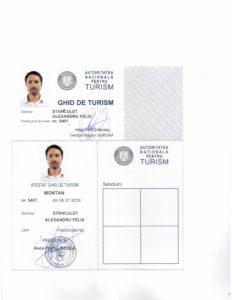 Felix Stanculet guiding license